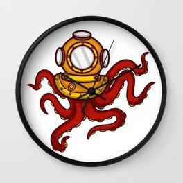 Deep Sea Octopus Deep Sea Diver Or Instructor Gift Wall Clock