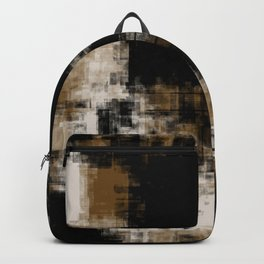Gold Black and White Abstract 35 Backpack