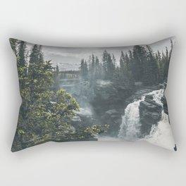 Athabasca Falls Alberta Rectangular Pillow
