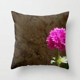 Lonely Verbena Throw Pillow