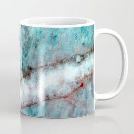 Pastel Aqua Blue Marble With White-Cream Streak Coffee Mug