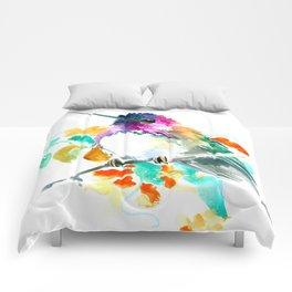 Cute Little Hummingbird Comforters