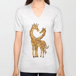 Henna Giraffe Unisex V-Neck