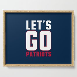 Let's go patriots, New England Serving Tray