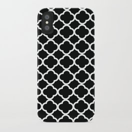 Black and White Graphic Flower iPhone Case