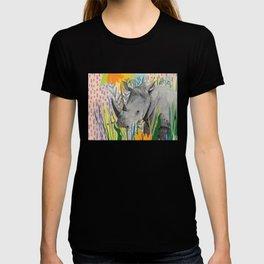 WHITE RHINO illustration T-shirt