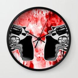 Double Triple (revolver) Wall Clock