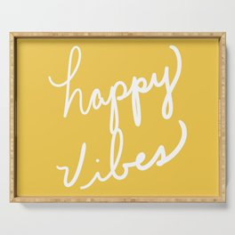 Happy Vibes Yellow Serving Tray