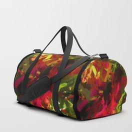 Rainbow Flower Rhapsody Red Green Duffle Bag