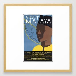 VISIT MALAYA Framed Art Print