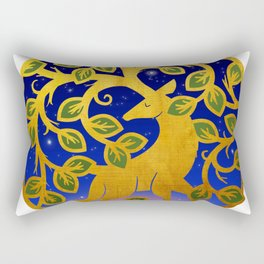 Magical Golden Stag Of The Forest At Dawn Rectangular Pillow