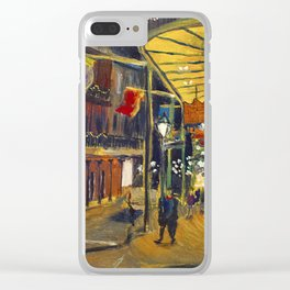 Nola at Night Clear iPhone Case