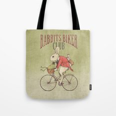 Rabbits Biker Club Tote Bag