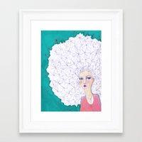jane davenport Framed Art Prints featuring Puffball by Jane Davenport by Jane Davenport