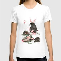 easter T-shirts featuring Crow Serie :: Easter Crow by Leslie Tychsem
