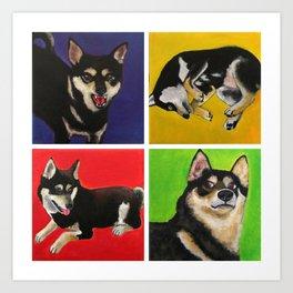 Shiba Inu Pop Art Art Print