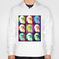 darwin Hoodies featuring Evolution of Darwin by JustDave