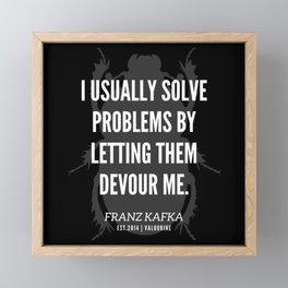 28  |  Franz Kafka Quotes | 190517 Framed Mini Art Print