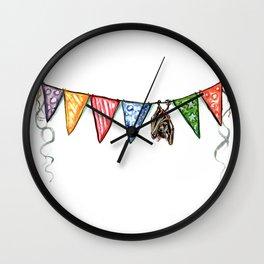 Bat Banner Wall Clock