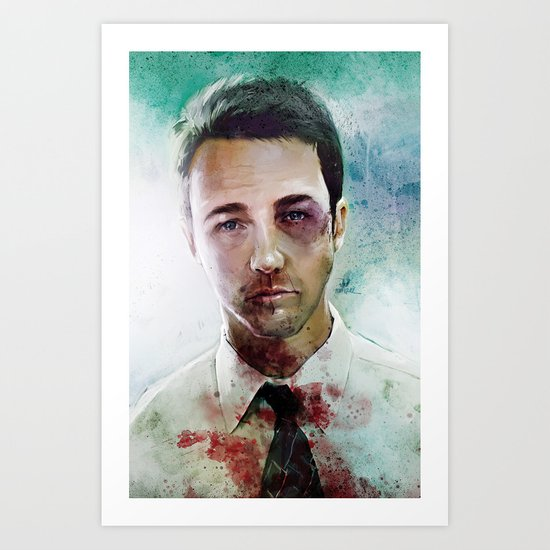 Edward Norton 'Tyler Durden' The Fight Club Art Print