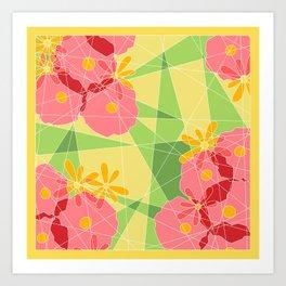 Floral Cubed Art Print