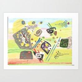 GOD Abstract Art Print