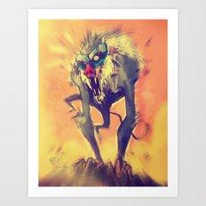 Rafiki´s Rage Art Print