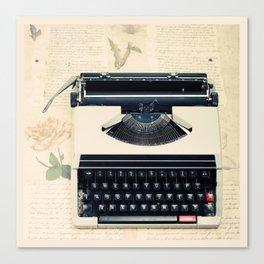 Typewriter (Retro and Vintage Still Life Photography) Canvas Print