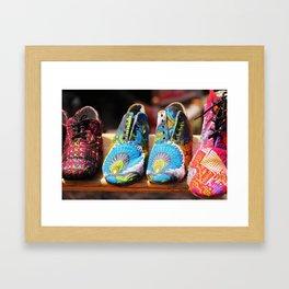 Flea Market Shoes Framed Art Print