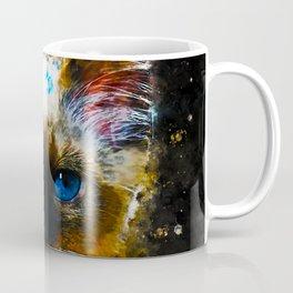 holy birma cat blue eyes splatter watercolor Coffee Mug