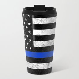 Thin Blue Line Flag 2 Travel Mug