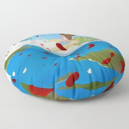 Of Puzzles and Goodbyes Floor Pillow