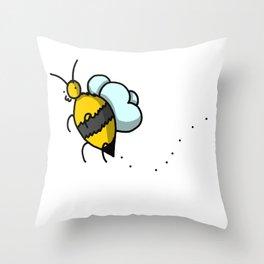 Buzzy Bee | Veronica Nagorny Throw Pillow