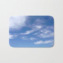 Blue Sky with Clouds Photograph Bath Mat