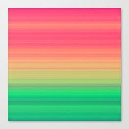 Tropical stripes Summer pattern Canvas Print