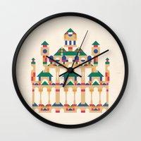 physics Wall Clocks featuring Block Façade by C86 | Matt Lyon