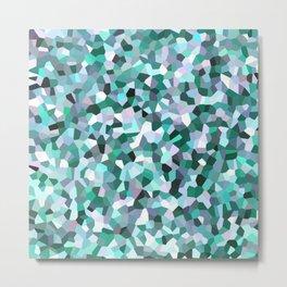 Turquoise Mosaic Pattern Metal Print