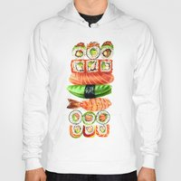 sushi Hoodies featuring Sushi by Sam Luotonen