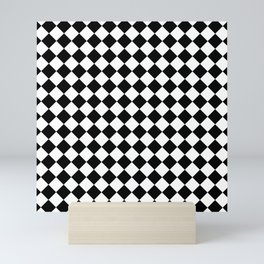 schwarz weiß kariert 2 Mini Art Print
