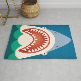 Shark Brush Your Teeth Bathroom Art Rug
