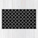 Black and White Moroccan Quatrefoil by colorpopdesign