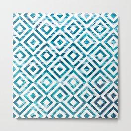 Geometric Watercolor Metal Print