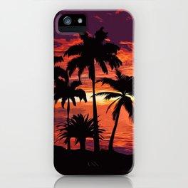 An hawaiian sunset iPhone Case