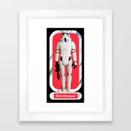 Stormtrooper : Vintage Kenner action figure Smaller Size Framed Art Print