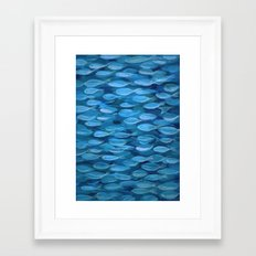 Shimmer Shoal in Blue Framed Art Print