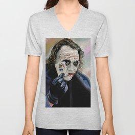 the Joker hahaha Unisex V-Neck