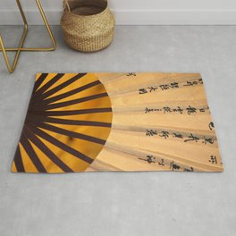 Japanese Umbrella yellow Rug