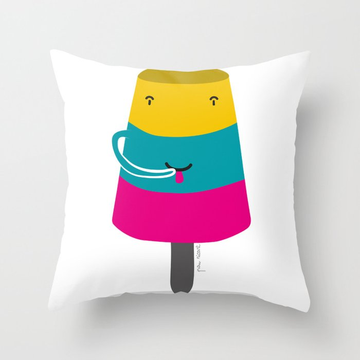 Helado de Salcedo Throw Pillow