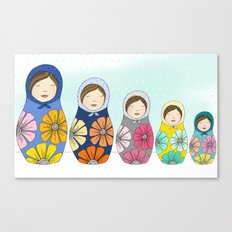 More Matryoshkas Canvas Print