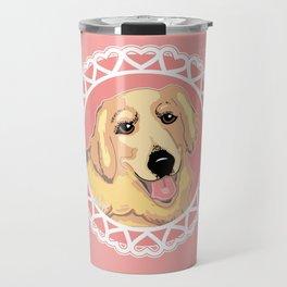 Golden Retriever Love Travel Mug